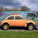Beetle Painted On VW Bus