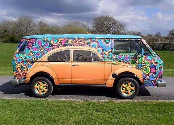 Beetle Painted On VW Bus