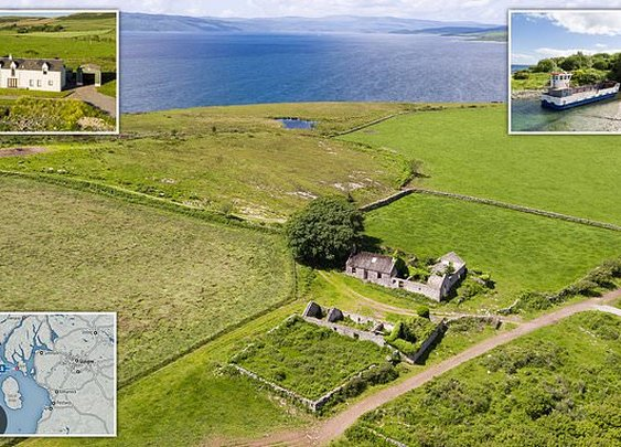 Uninhabited 660-acre Scottish island with four-bedroom farmhouse and its own ferry on sale for £1.4m | Daily Mail Online