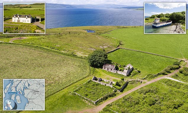 Uninhabited 660-acre Scottish island with four-bedroom farmhouse and its own ferry on sale for £1.4m   Daily Mail Online