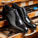 BARKER Winsford Shoes - Mens Oxford - Black Polish