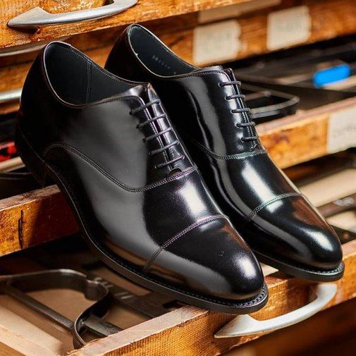 BARKER Winsford Shoes - Mens Oxford - Black Polish