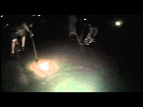 flaming puck unicycle hockey : www.justonewheel.com - YouTube