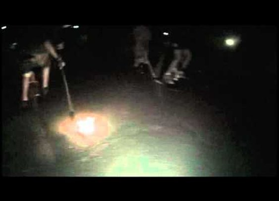 flaming puck unicycle hockey : www.justonewheel.com - YouTube