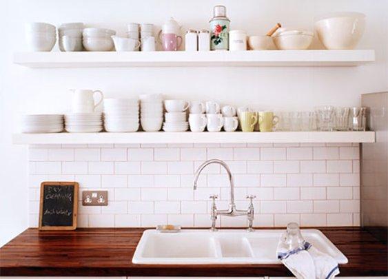 kitchen floating shelf ideas | Custom Floating Shelves