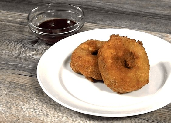 Fried Macaroni and Cheese Pulled Pork Donuts