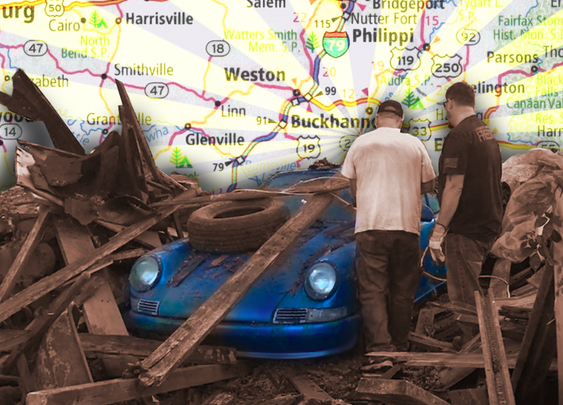 West Virginia Man Discovers Incredible 1967 Porsche 911 Buried Under A Fallen Barn