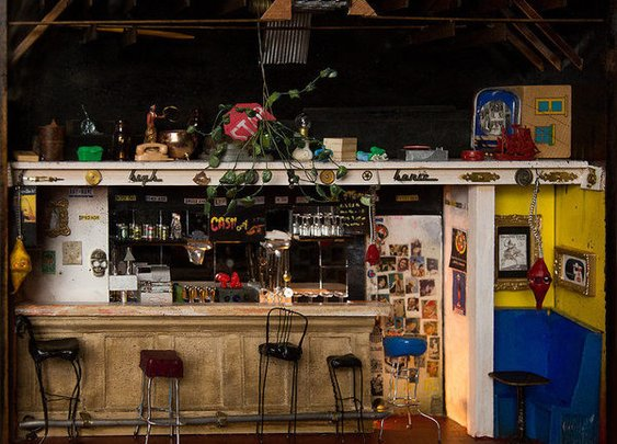 This Artist Builds Tiny, Lifelike Replicas of Beloved Dive Bars - Gastro Obscura