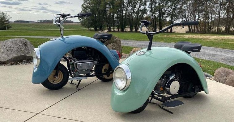 Volkswagen Beetle Side Fenders Converted Into Motorcycles