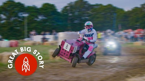 Inside the Indy 500 of Lawnmower Races - YouTube