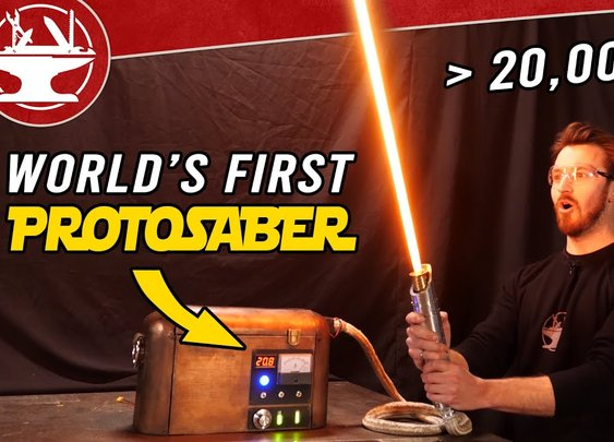 World's First Protosaber! (REAL BURNING LIGHTSABER) - YouTube