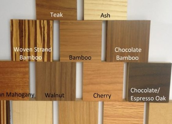 Finish samples | Custom Floating Shelves