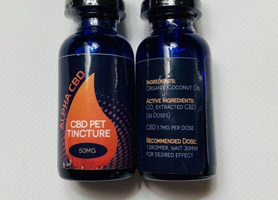 Alpha CBD Pet Drops | 50mg Pet CBD Oil | CBDSafe