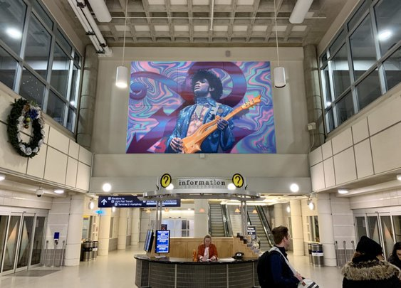 A Giant Mural Of Prince Is Being Installed At The Minneapolis Airport