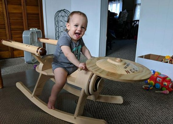 Star Trek Enterprise Rocker | Etsy