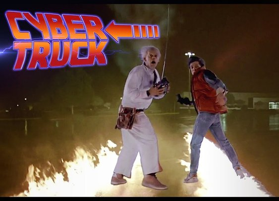 A New Time Machine? Cybertruck 2020 in Back to the Future - YouTube