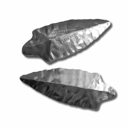 More Specialty Silver Bars : 3 oz Fine Silver - Monarch 3D Art Bar - Long Arrowhead