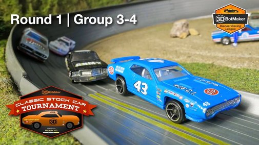 Classic Stock Car Tournament (Round 1 Group 3-4) Diecast NASCAR Race - YouTube