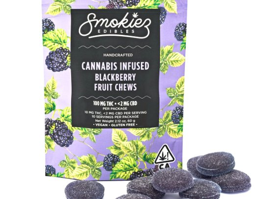 Smokiez gummy edible - Sour Blackberry Fruit | Weed Edible | PotValet