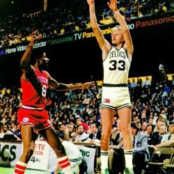 1981 Boston Celtics Larry Bird Converse Poster Reproduction by Row One Brand - Row One Brand
