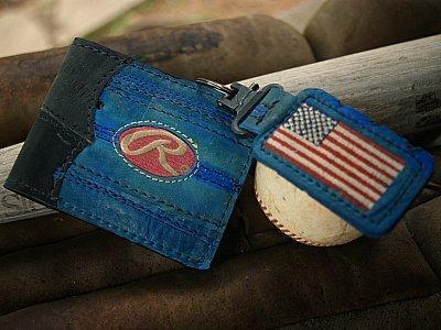 All American Custom Baseball Wallet/Key Fob Combo (An MVP Exclusive) - Vvego.com