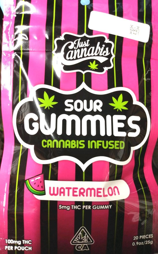 Sour Watermelon Weed Gummy edibles | Hybrid Gummy Edible | Pot Valet