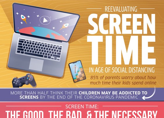 Infographic: Reevaluating Screen Time in an Age of Social Distancing | uBreakiFix Blog
