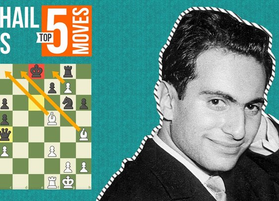 Mikhail Tal's Top 5 Most Brilliant Moves - YouTube