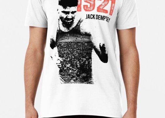 Jack Dempsey.Vintage 1920s Boxing. Premium T-Shirt.2510 Shop | Redbubble