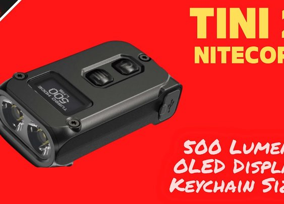 The Nitecore Tini 2 Keychain Flashlight 🔦 ( 500 Lumens + OLED Display) - YouTube