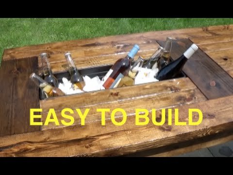 How to Build a Farmhouse Table with Built-In Coolers
