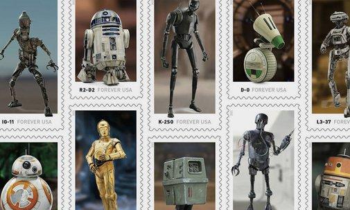USPS Releasing 'Star Wars' Droid Postage Stamp Series