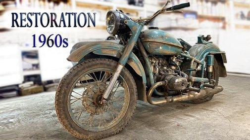 Old Soviet Motorcycle - Full Restoration