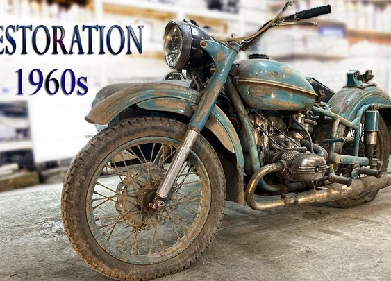 Old Soviet Motorcycle - Full Restoration