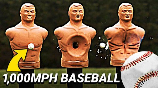 Trying to Catch a 1,000 MPH Baseball - Smarter Every Day 247 - YouTube