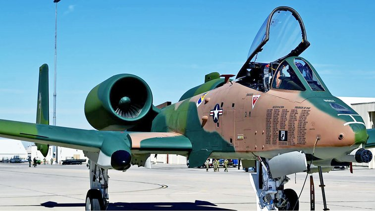 A-10 Warthog Emerges Painted In Green And Tan Camouflage                       The Drive