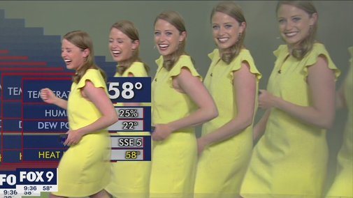 Meteorologist multiplies on screen during graphics glitch | FOX 9 KMSP - YouTube