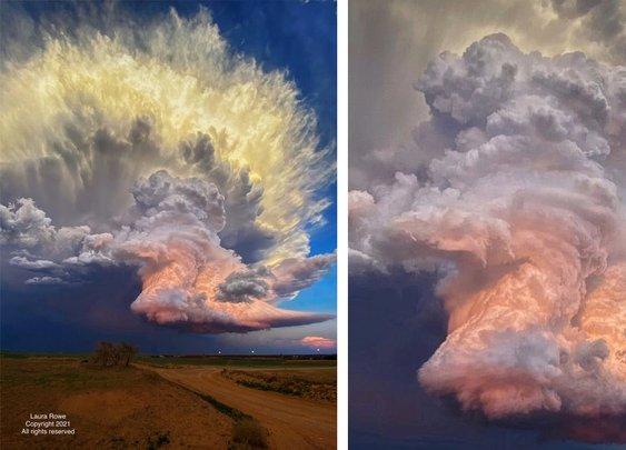 Amateur Photographer Captures Fiery Storm Cloud Photo