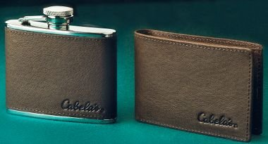 60% off Cabela's Wallet and Flask Combo $19.99