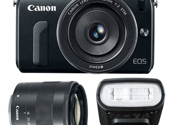 Canon EOS M 18MP SLR w/18-55mm STM, 22mm STM Pancake Lens and Flash $399 Shipped
