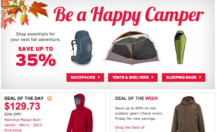 35% Off REI-Outlet Camping Gear