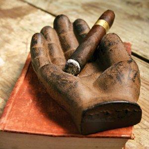 Cast Iron Hand Cigar Ashtray