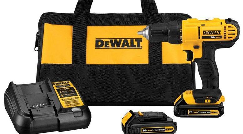 DeWalt 20-Volt Max Lithium-Ion Cordless Drill Driver Kit $99