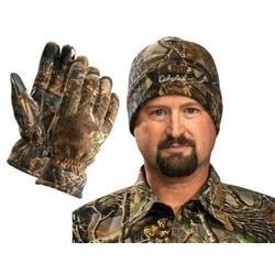 Cabelas Camo Polar-Weight Fleece Gloves & Hat $8.99