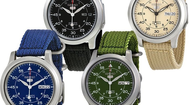 70% Off Seiko Canvas Strap Stainless Steel Watch ($54.99)