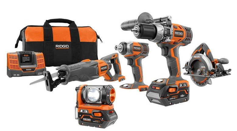 TODAY ONLY: RIGID X4 18-Volt Cordless Combo Kit