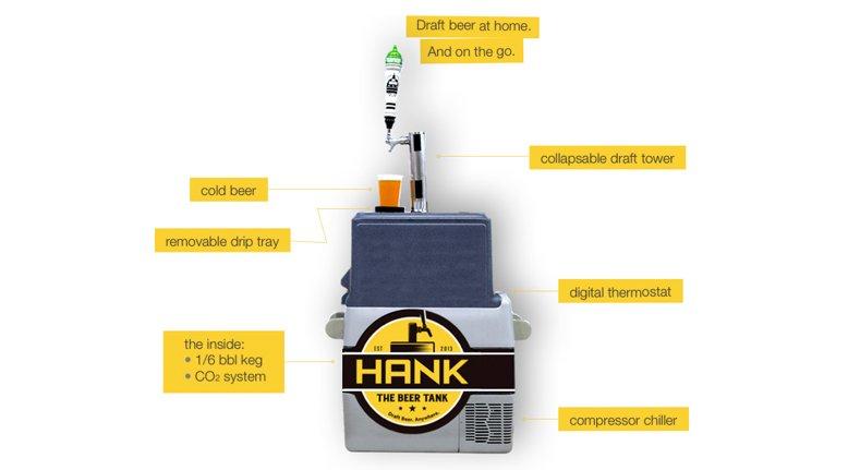 Hank the Beer Tank: Portable Kegerator