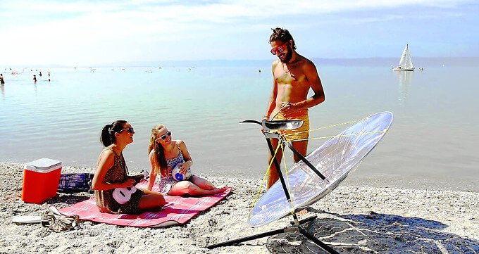 Solar-Powered Grill With NASA-like Technology