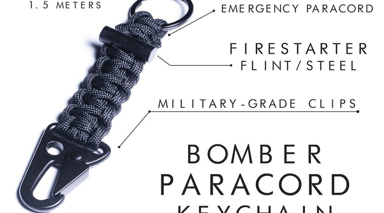 Bomber Carabiner Paracord Keychain $18.99