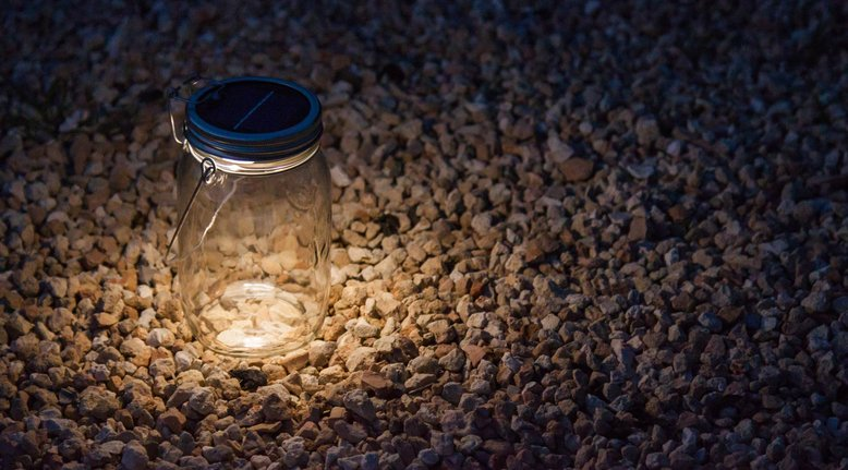 Solar-Powered LED Lantern & Table Light